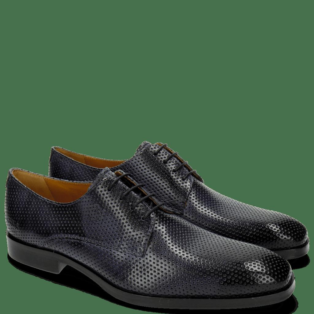 Derby Schuhe Greg 4 Berlin Perfo Navy