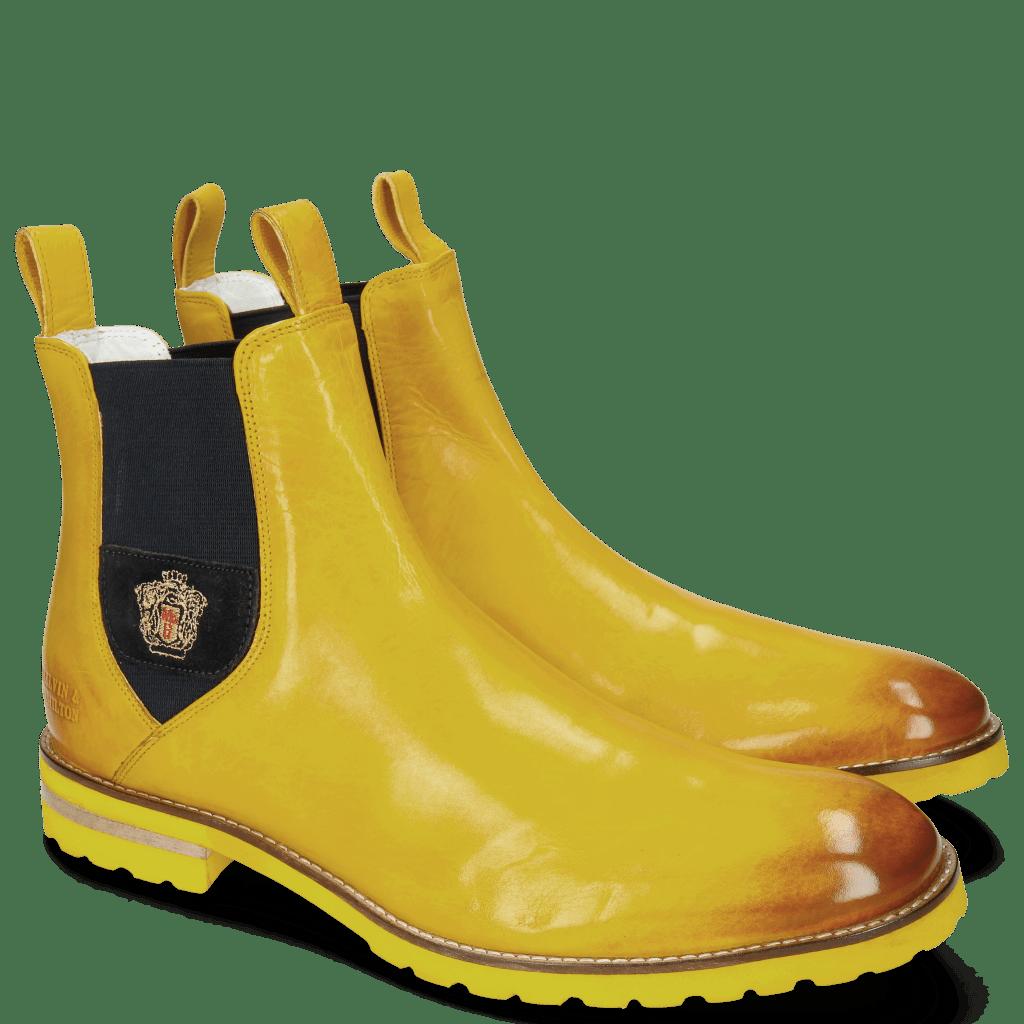 Stiefeletten Eddy 27 Yellow Elastic Navy