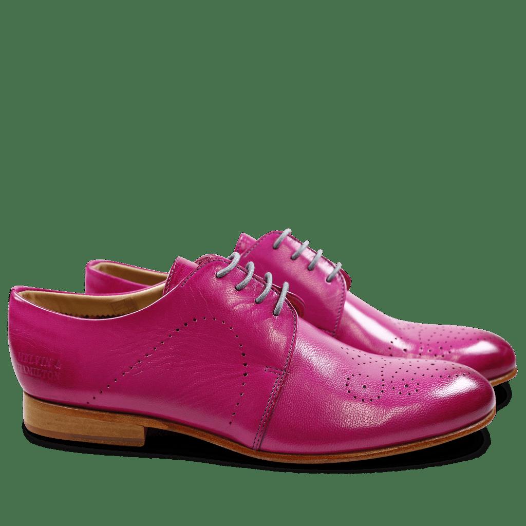 Derby Schuhe Sally 1 Salerno Magenta LS Natural