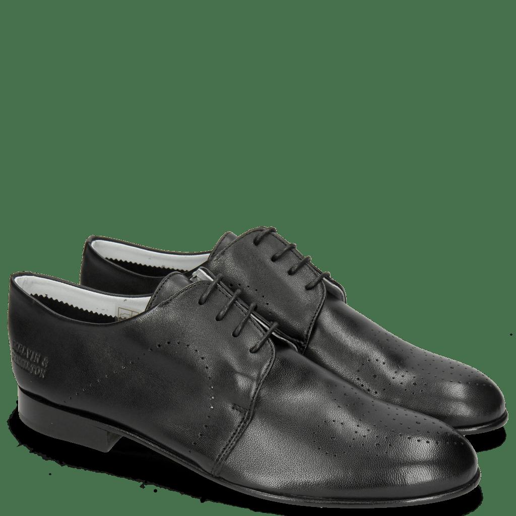 Derby Schuhe Sally 1 Nappa Glove Black