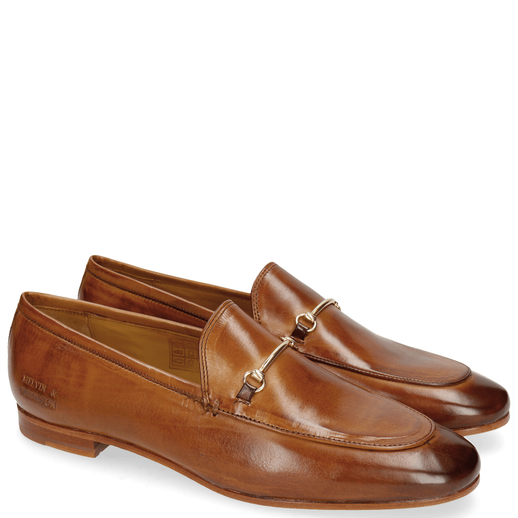 Loafers Scarlett 1 Tan Trim Gold