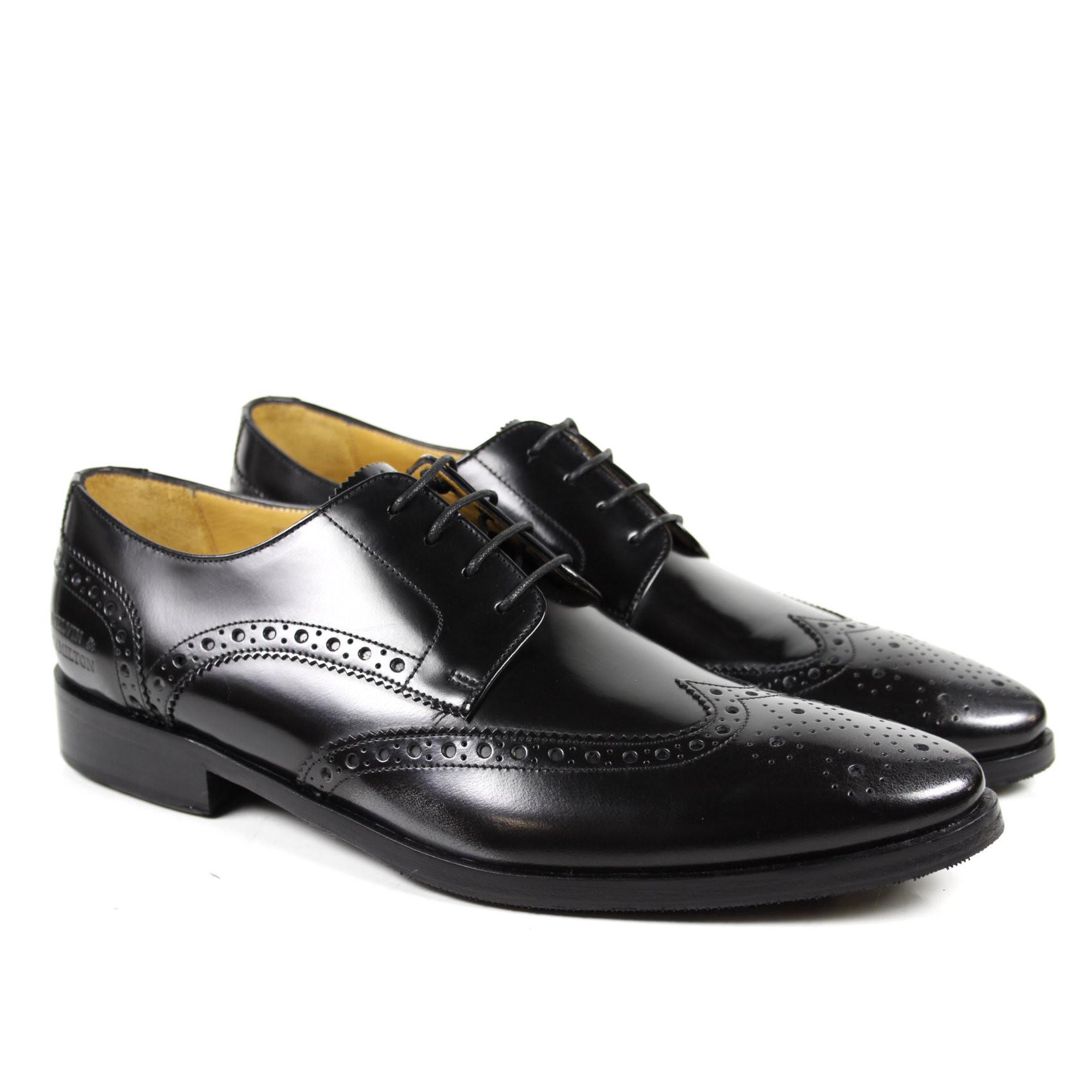 Derby Schuhe Daniel 6 Brush Gunmetal HRS
