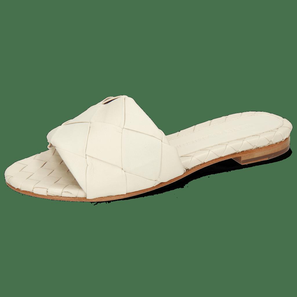 Pantoletten Hanna 67 Nappa Off White Lining