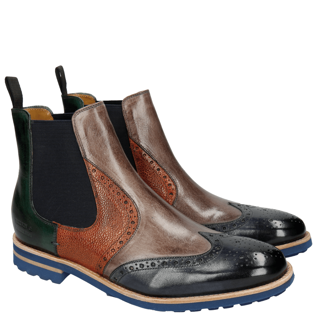 Stiefeletten Johnny 10 Navy Stone Forest