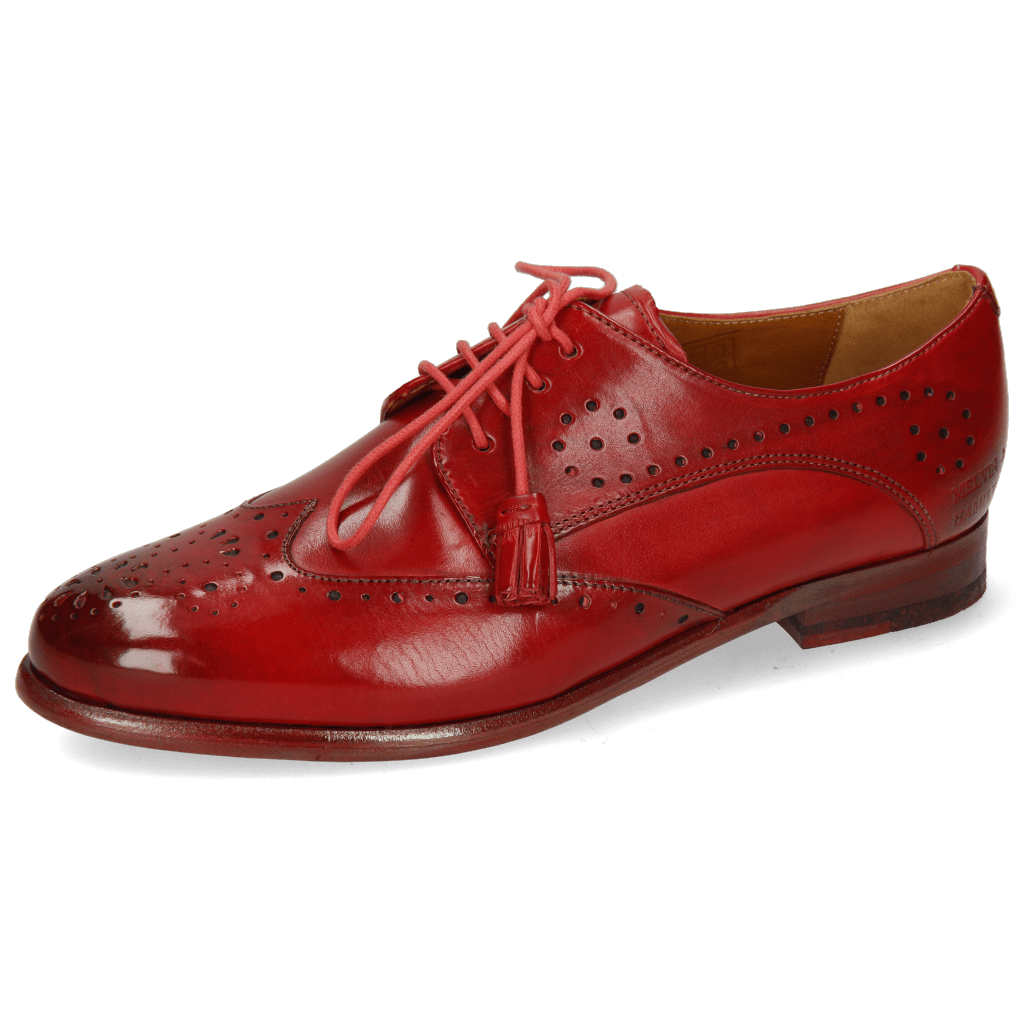 Derby Schuhe Selina 41 Red Lining Rich Tan