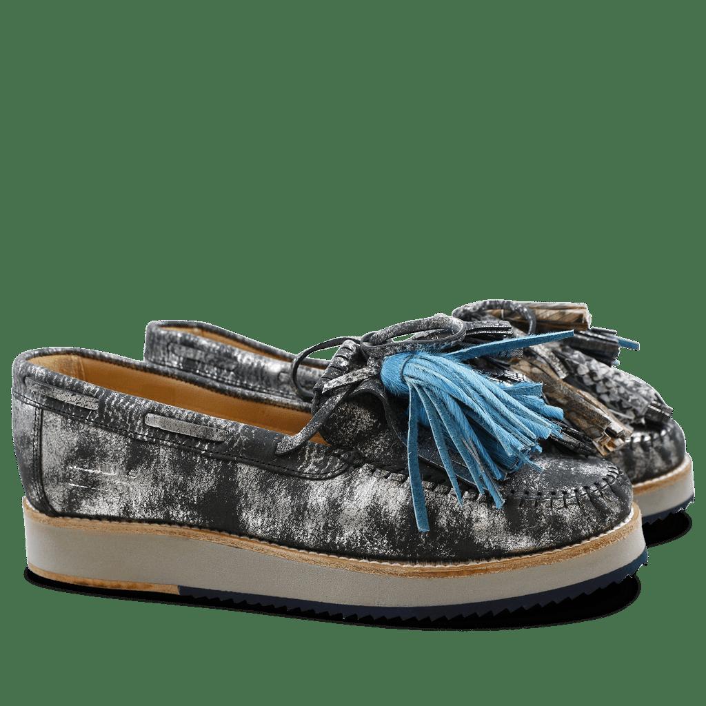 Loafers Bea 4 Graphite Black Tassel Multi