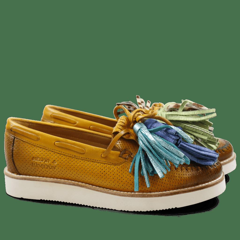 Loafers Bea 4 Venice Perfo Sun Tassel Multi New Malden White