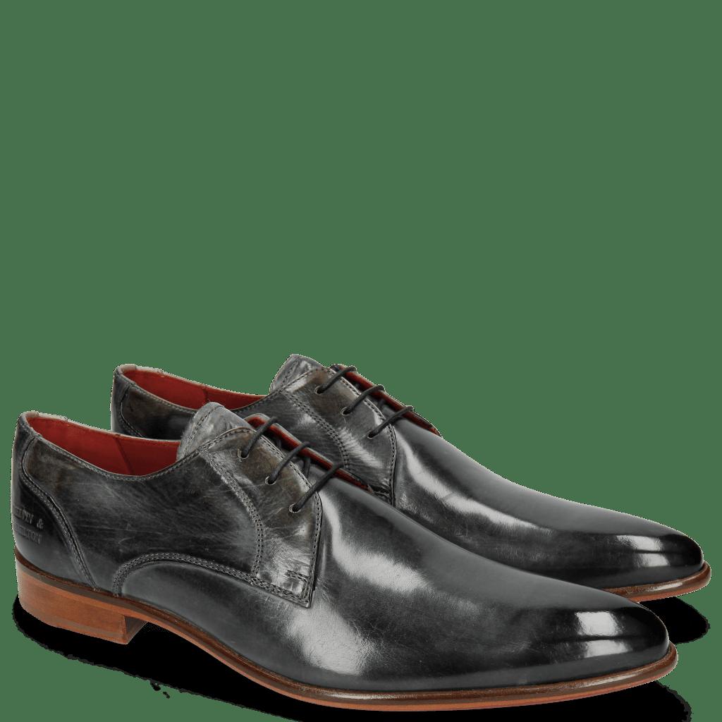 Derby Schuhe Toni 1 Glicine Lining Red