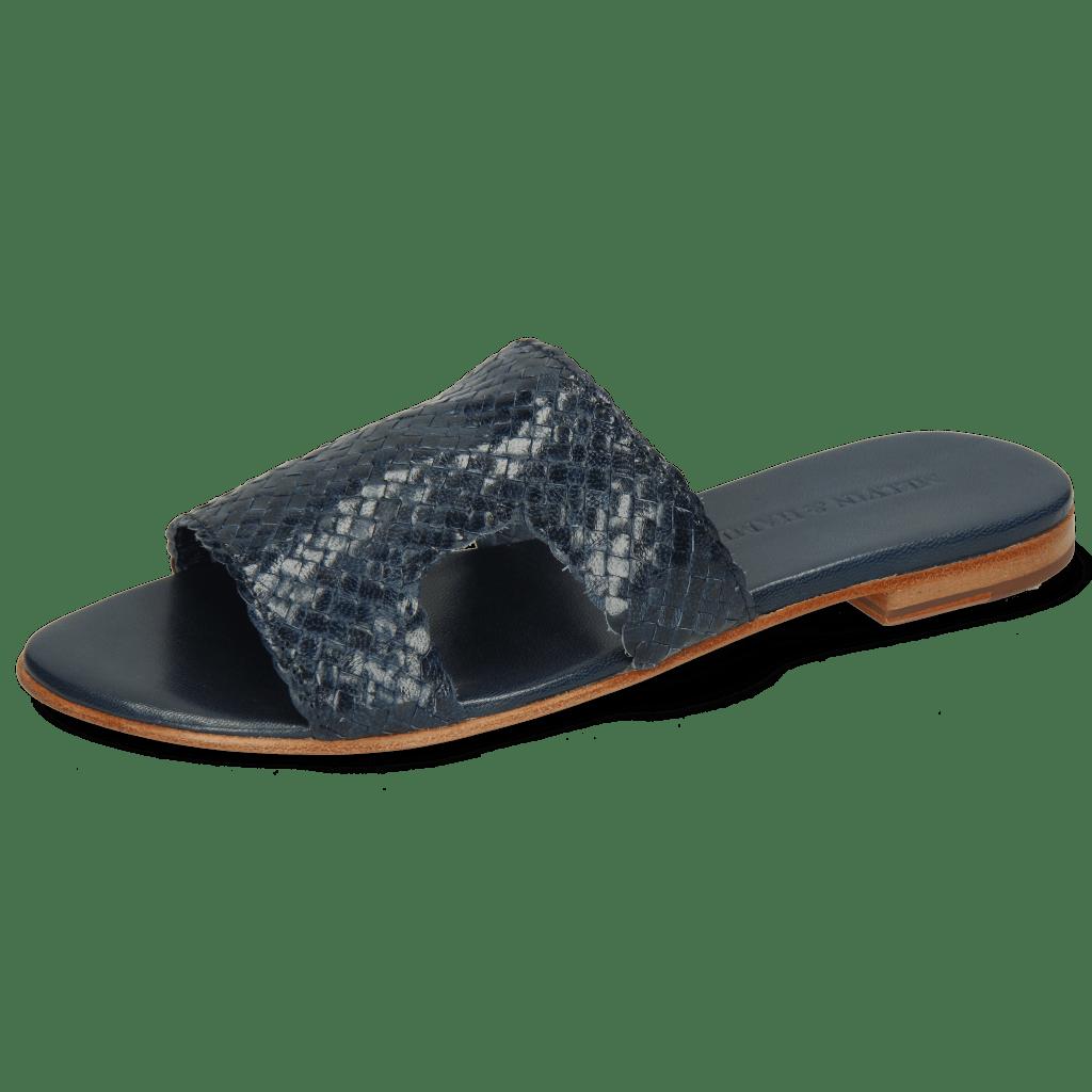 Pantoletten Hanna 74 Woven Chine Socks Foam