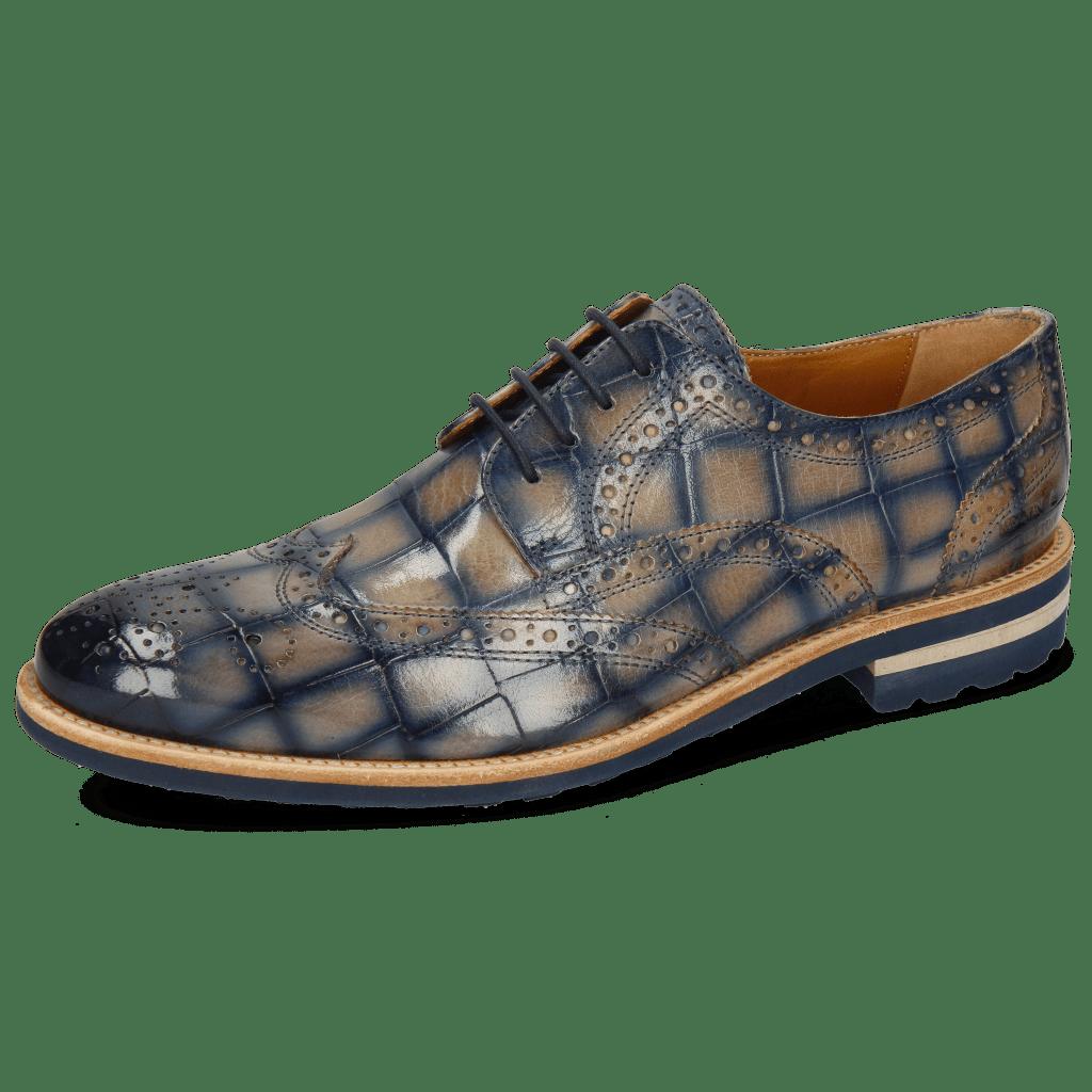 Derby Schuhe Henry 35 Turtle Oxygen Shade Navy