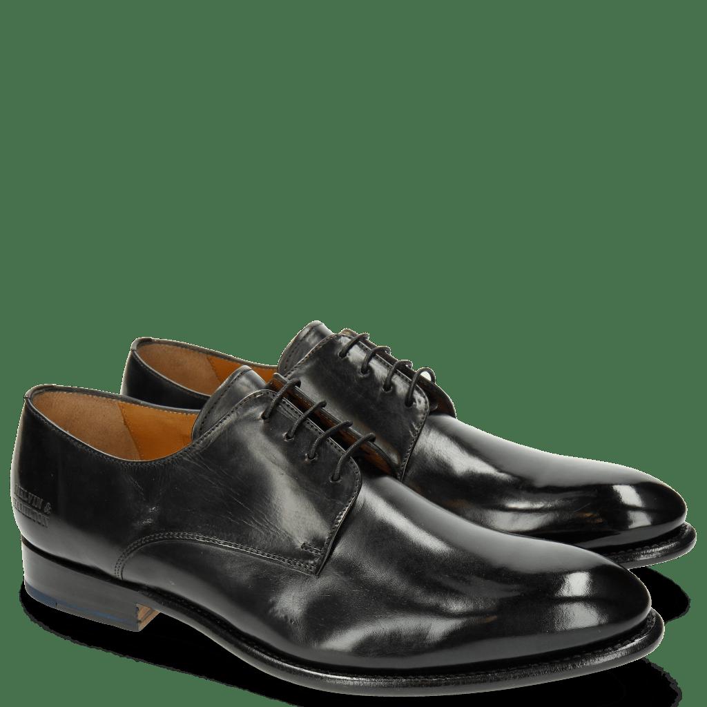 Derby Schuhe Lionel 3 Black LS Brown