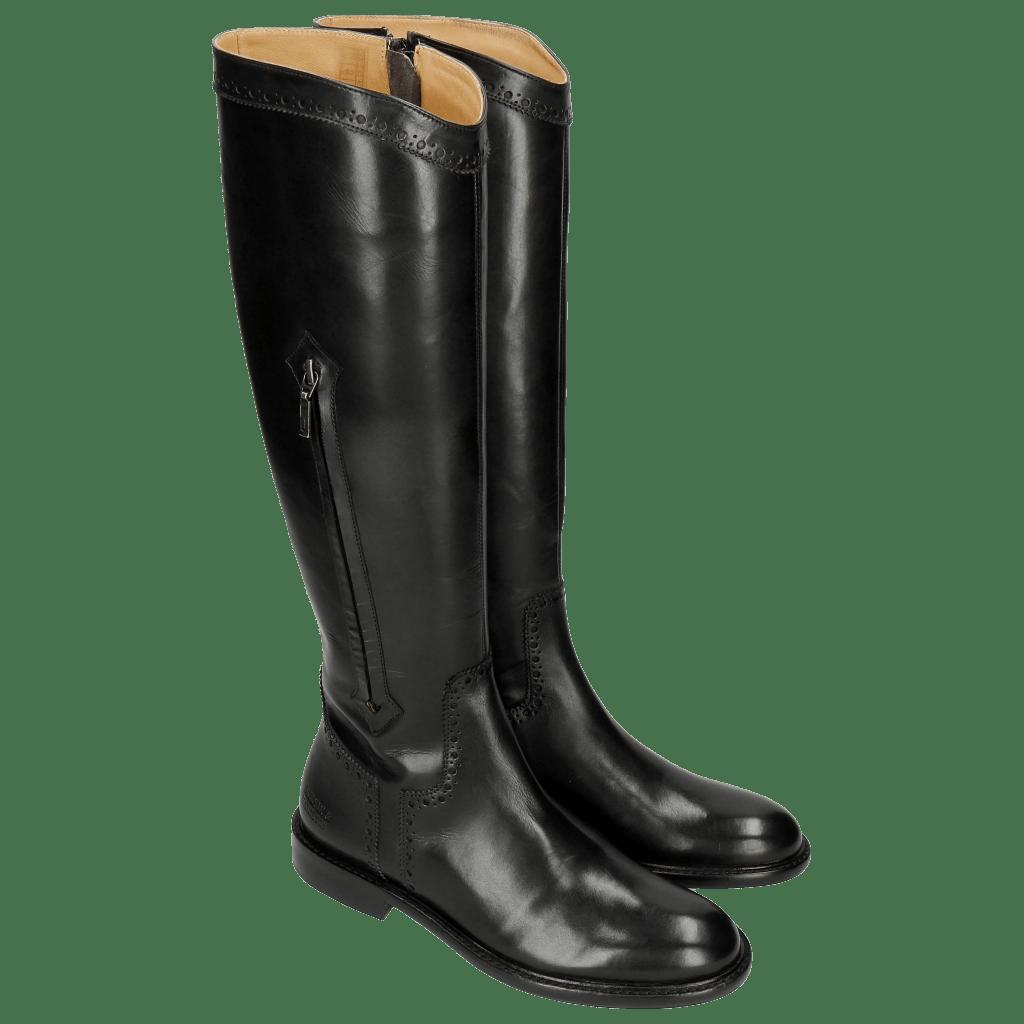 Stiefel Sally 117 Crust Black Lining Rich Tan