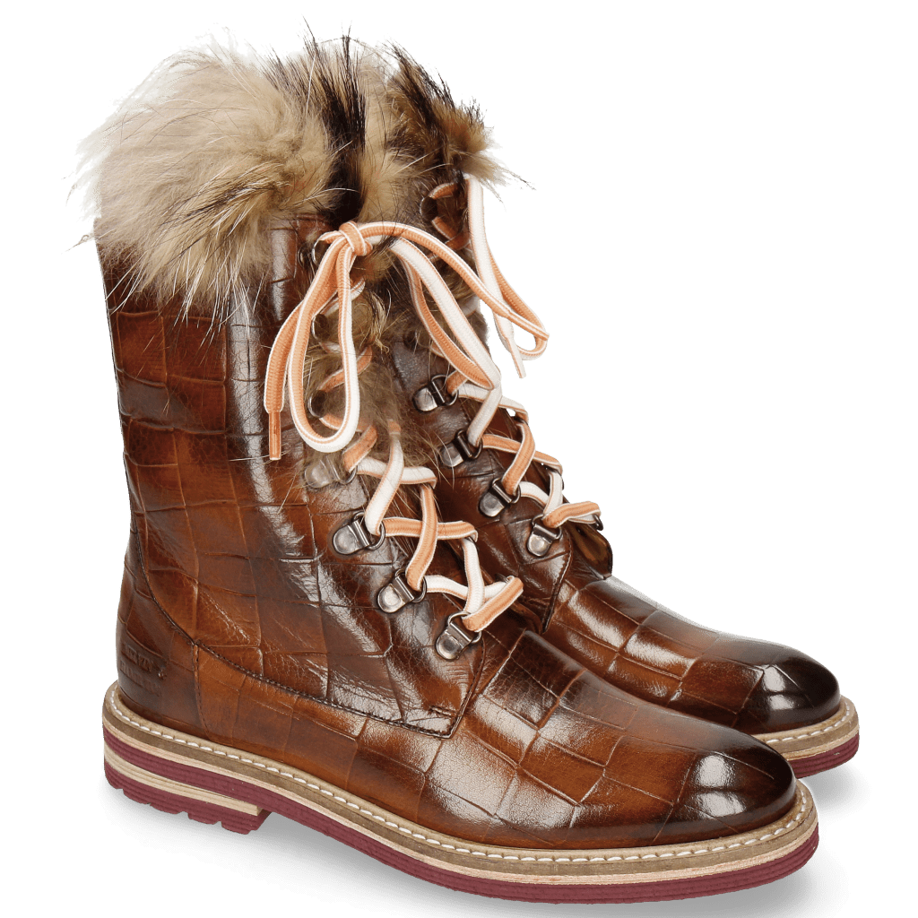 Stiefeletten Amelie 81 Turtle Wood Tongue Fur Lionel