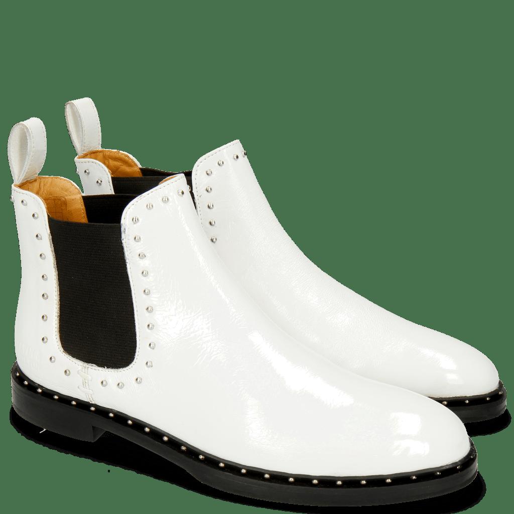 Stiefeletten Susan 37 Soft Patent White Rivets
