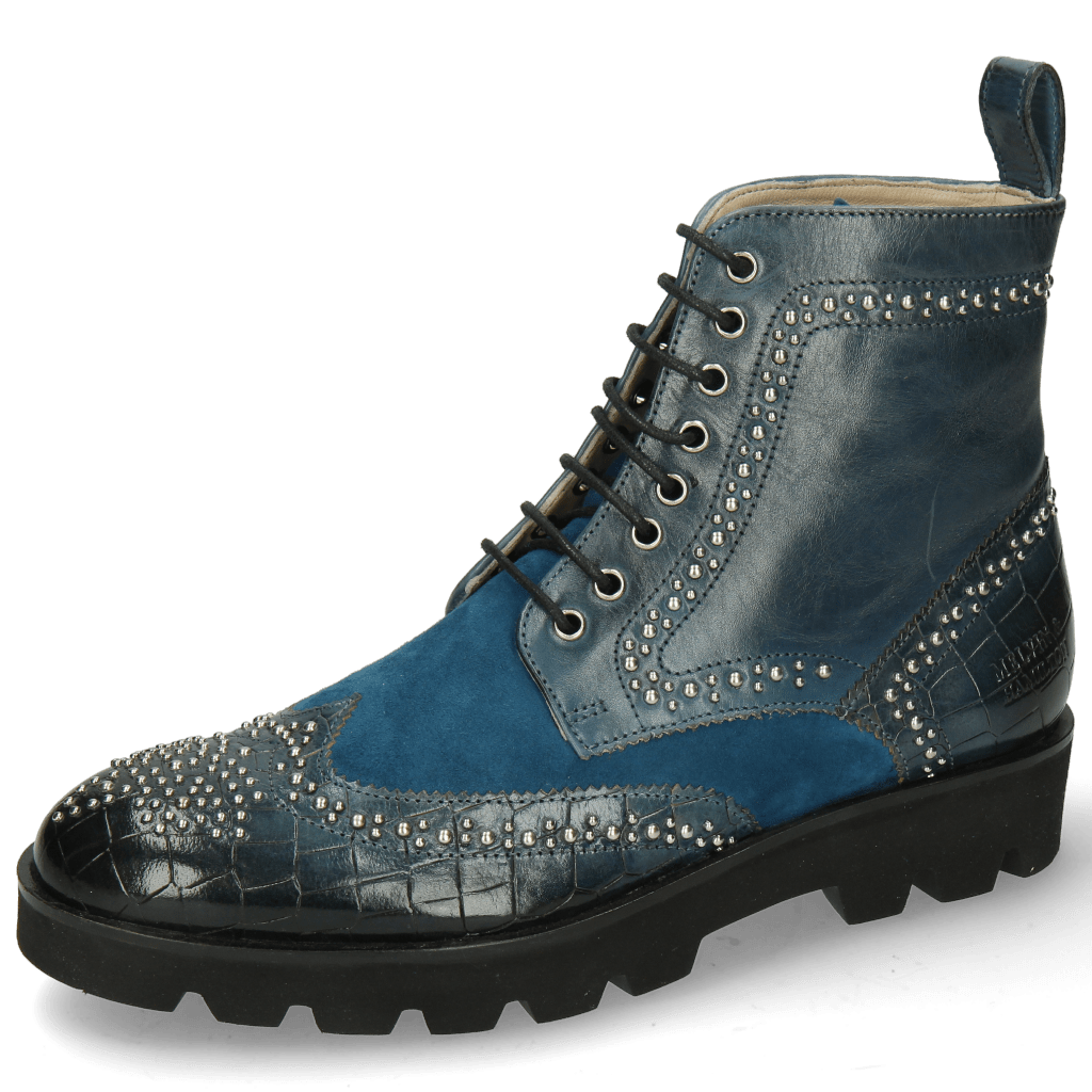 Stiefeletten Sally 120 Crock Ice Lake Sheep Suede Turquoise