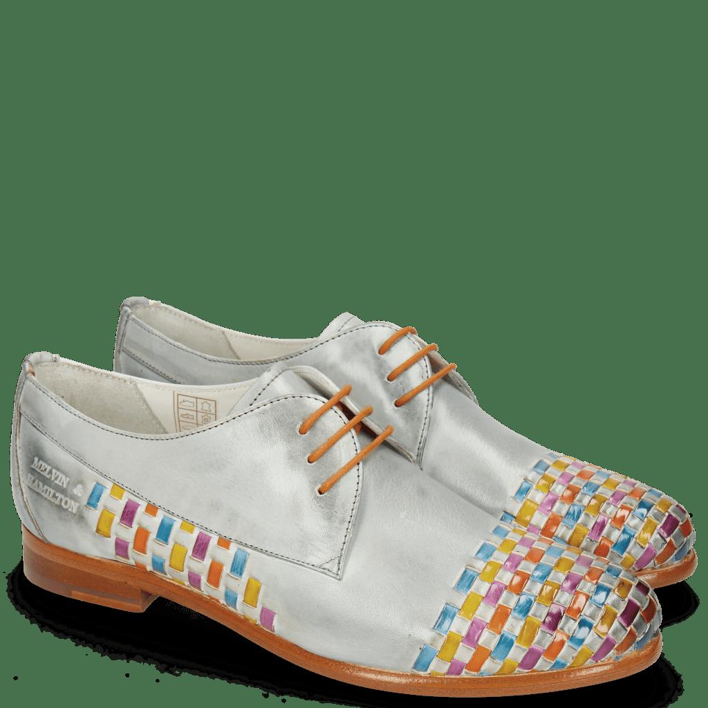 Derby Schuhe Selina 14 Vegas Clear Water Interlaced Multi