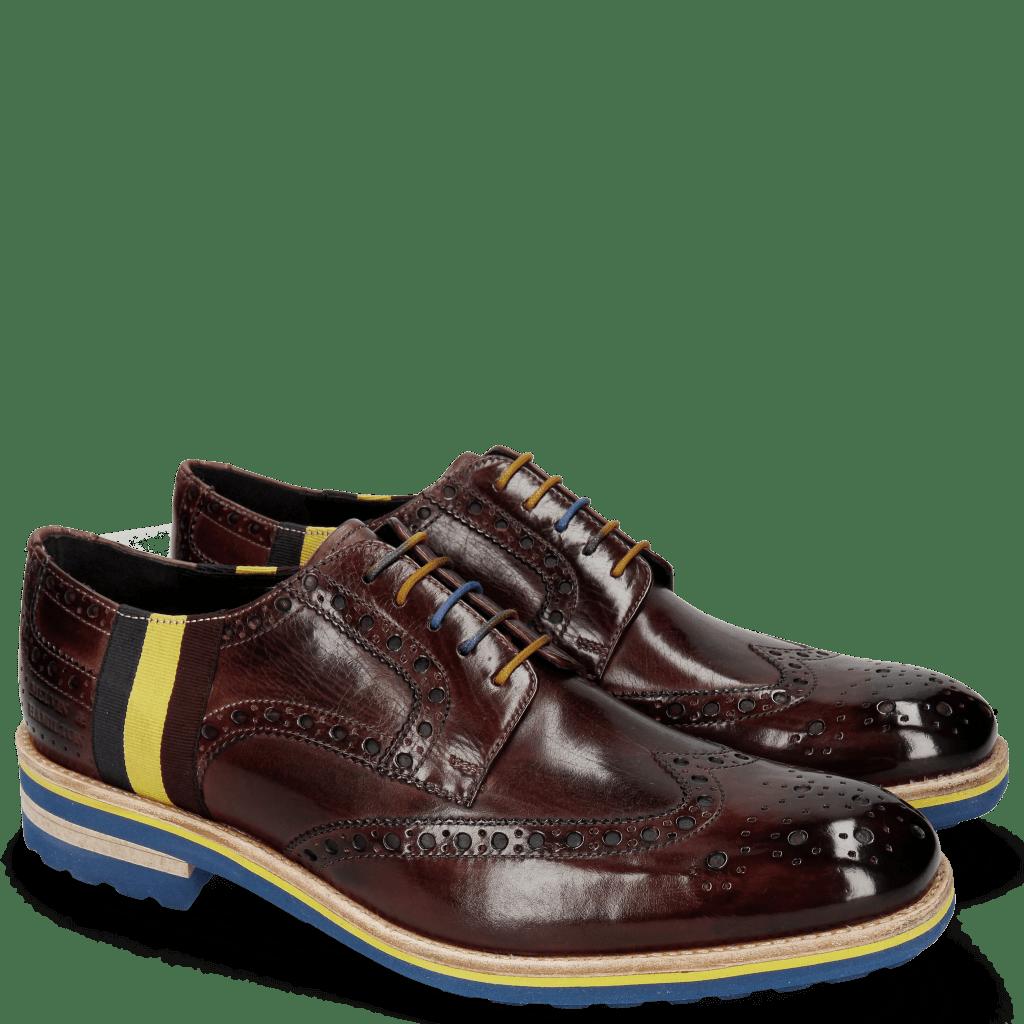 Derby Schuhe Eddy 38 Burgundy Strap Multi