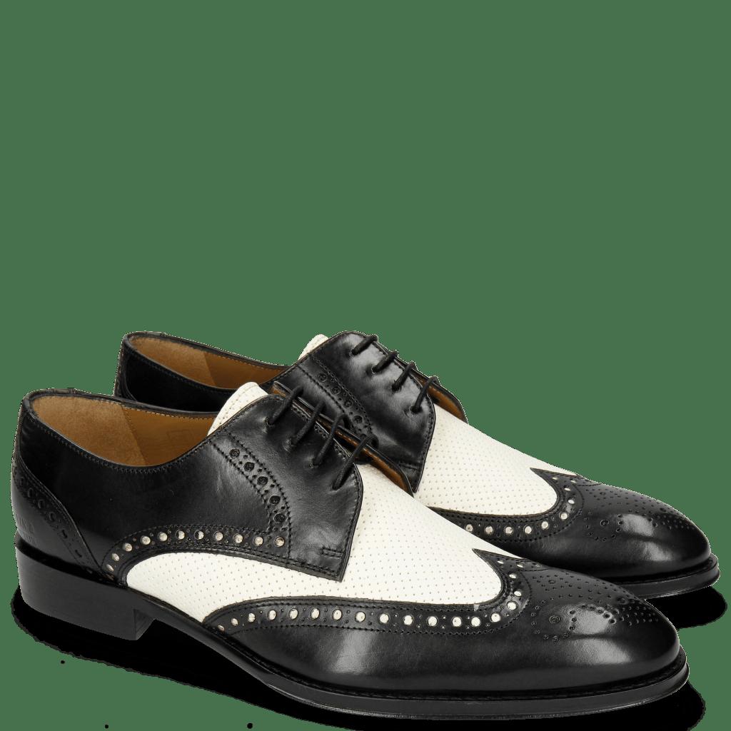 Derby Schuhe Kane 5 Black Perfo White