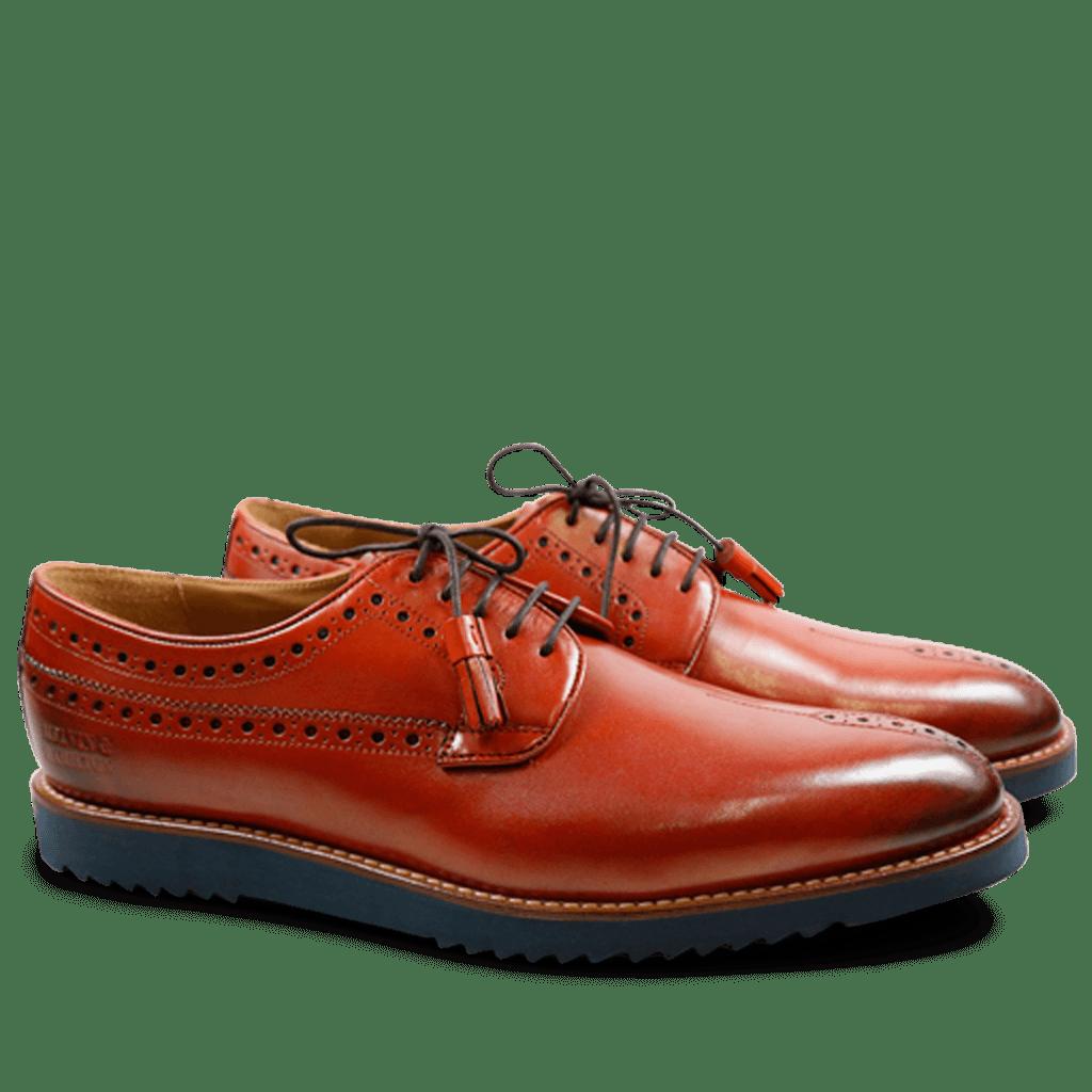 Derby Schuhe Peter 2  Brilliant Crust Orange Goya Navy