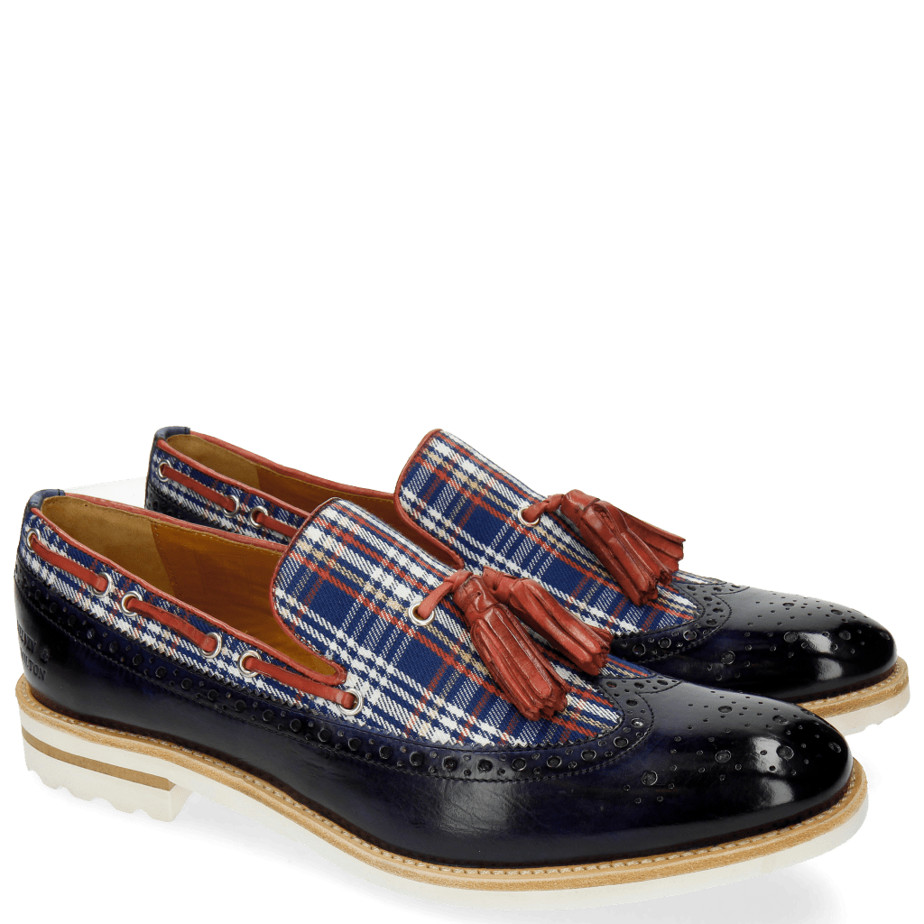 Loafers Eddy 16 Textile Check Navy Multi