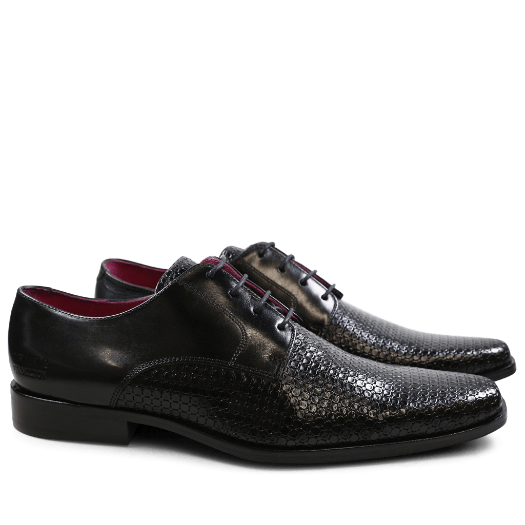 Derby Schuhe Mark 1 Bubble Ecocalf Black New HRS