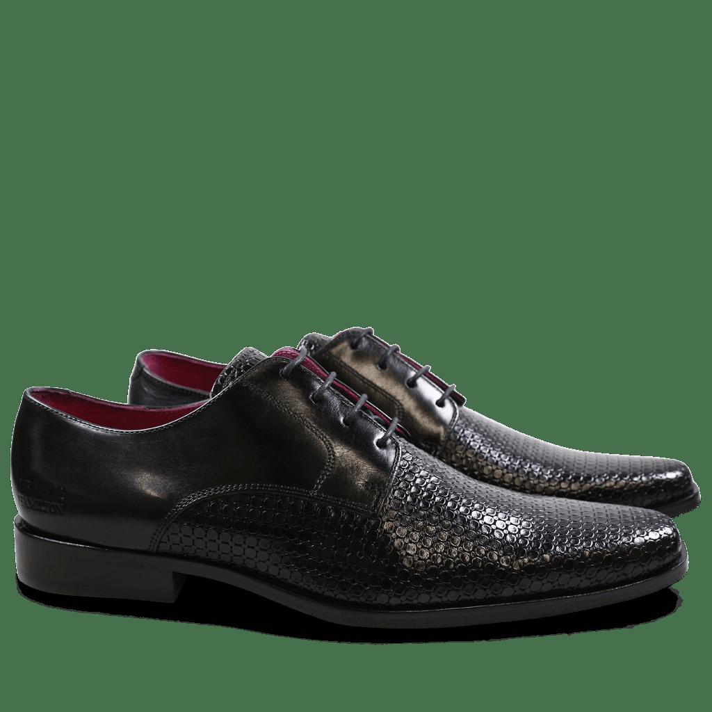 Derby Schuhe Mark 1 Bubble Ecocalf Black New HRS