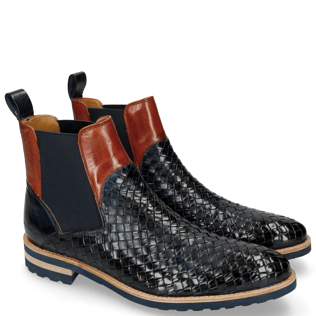 Stiefeletten Brad 9 Woven Navy Orange Aspen Navy