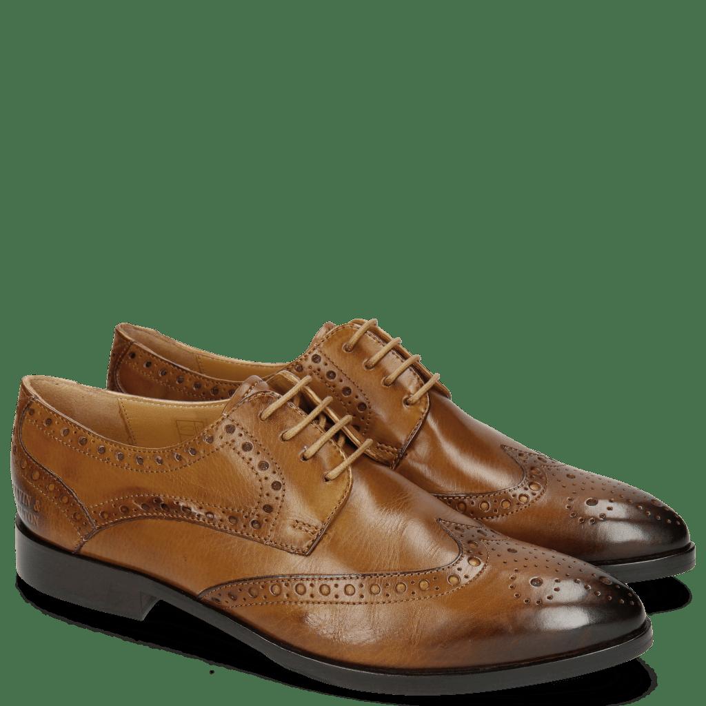 Derby Schuhe Jessy 6 Tobacco
