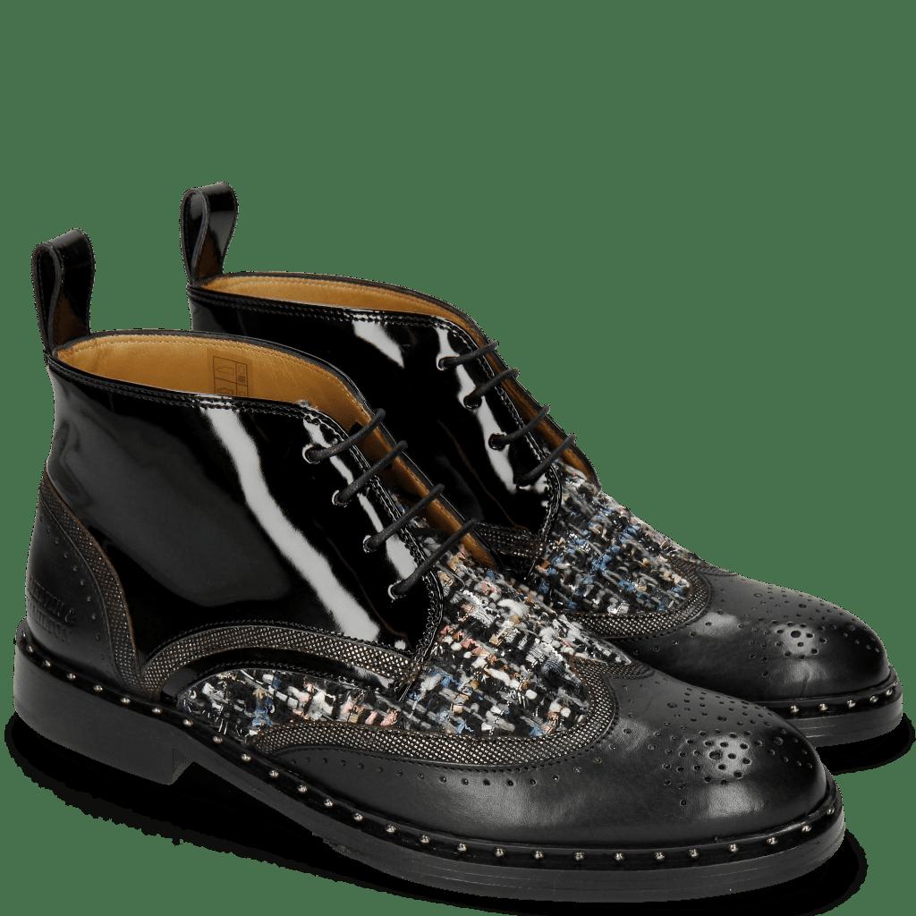Stiefeletten Sally 30 Black Fermont Gunmetal Textile Duke Spark