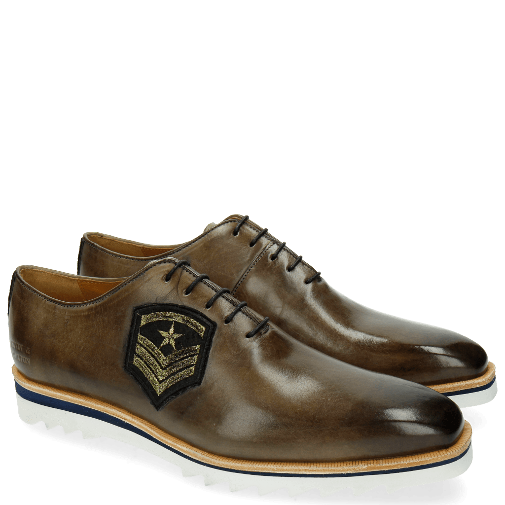 Oxford Schuhe Jeff 26 Smoke Patch Rank Star