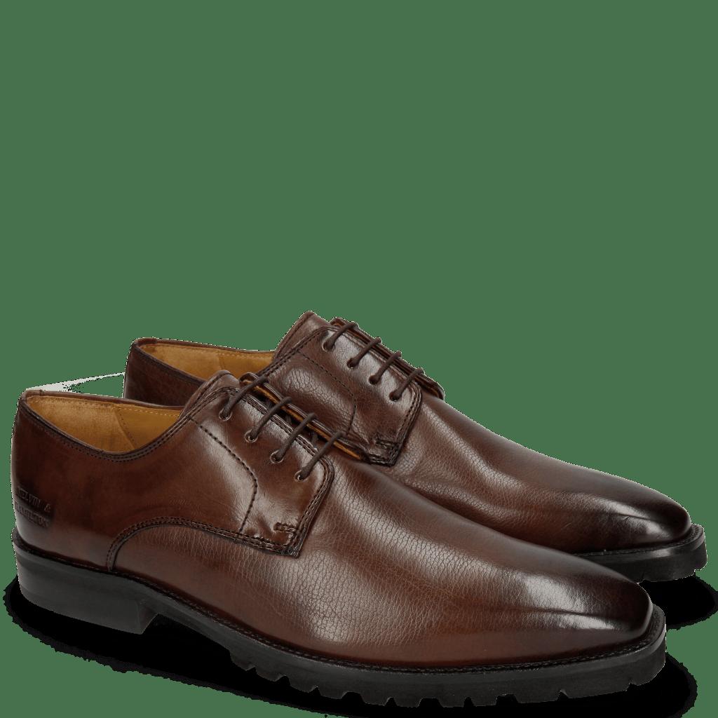Derby Schuhe Emil 1 Carmen Dark Brown