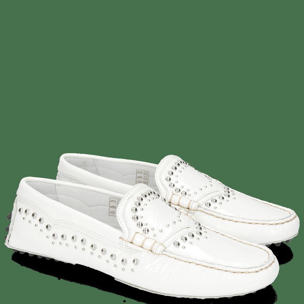 Loafers Caroline 6 Soft Patent White