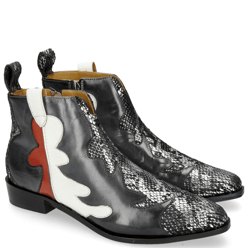 Stiefeletten Marlin 7 Snake Silver Black London Fog