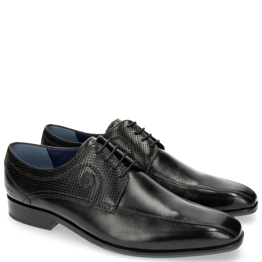 Derby Schuhe Rico 4 Rio Perfo Black