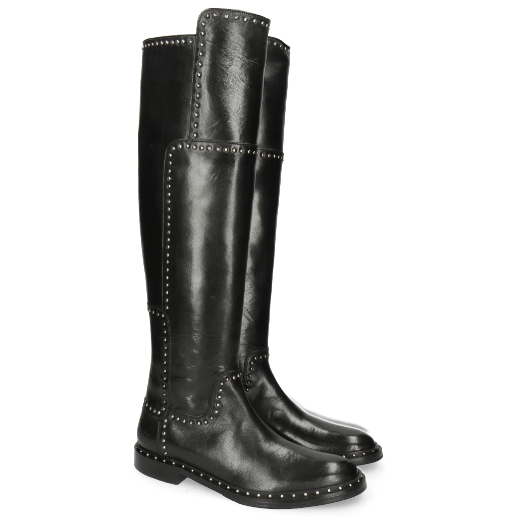 Stiefel Sally 61 Rio Black Rivets Welt