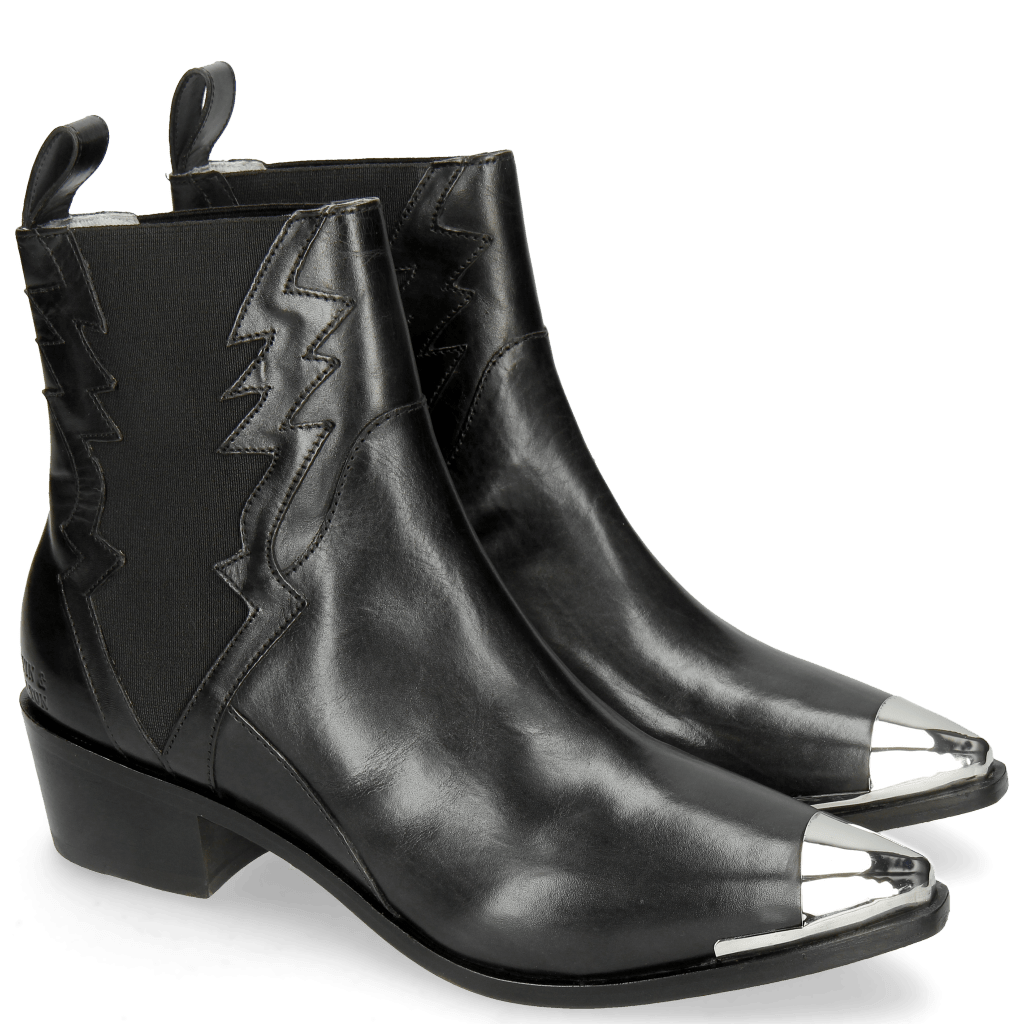 Stiefeletten May 1 Black Toe Cap Gunmetal