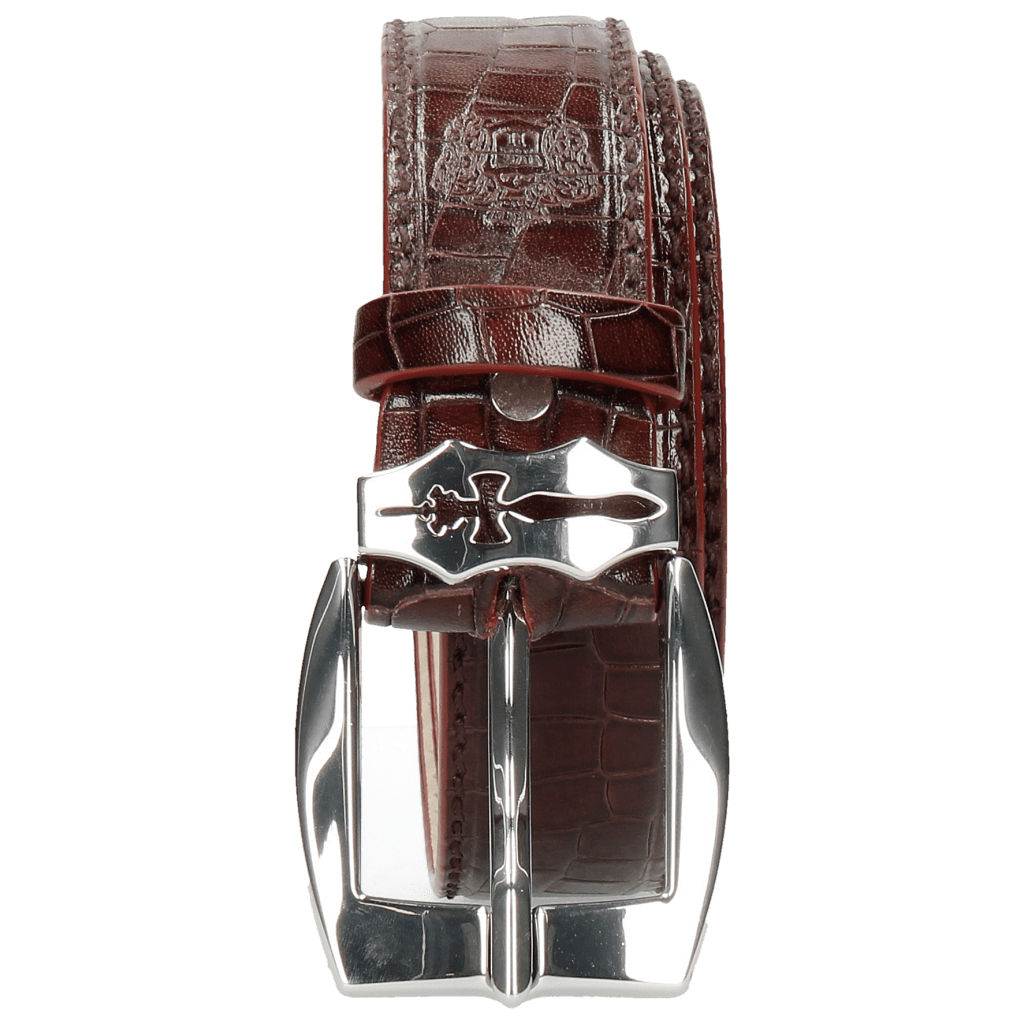 Gürtel Larry 1 Crock Burgundy Sword Buckle