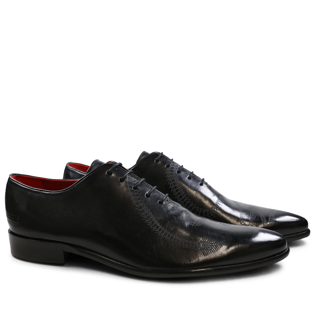 Oxford Schuhe Toni 26 Black Lasercut Snake