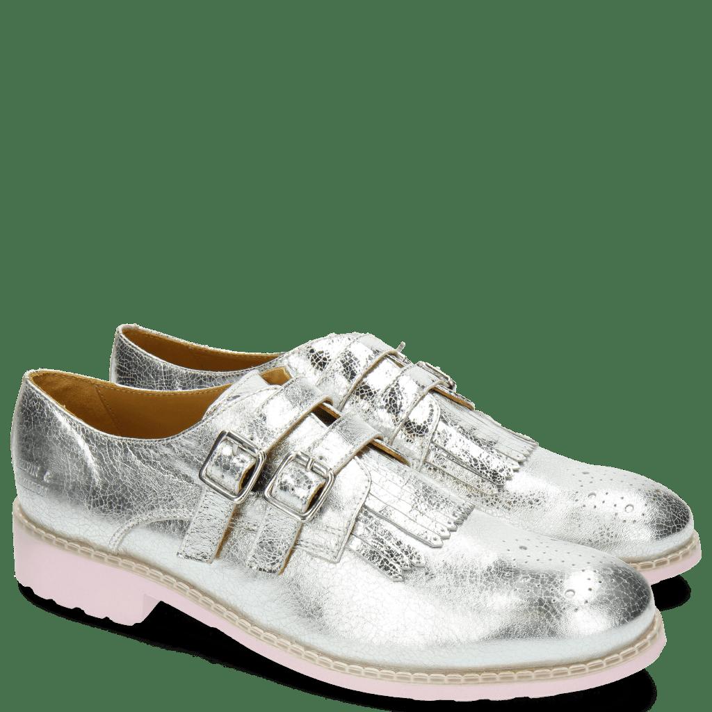 Monk Schuhe Ella 24 Metal Silver