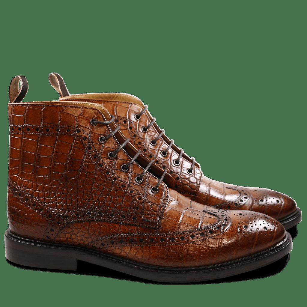 Matthew 7 Crust Croco Wood HRS | Stiefeletten, Herren
