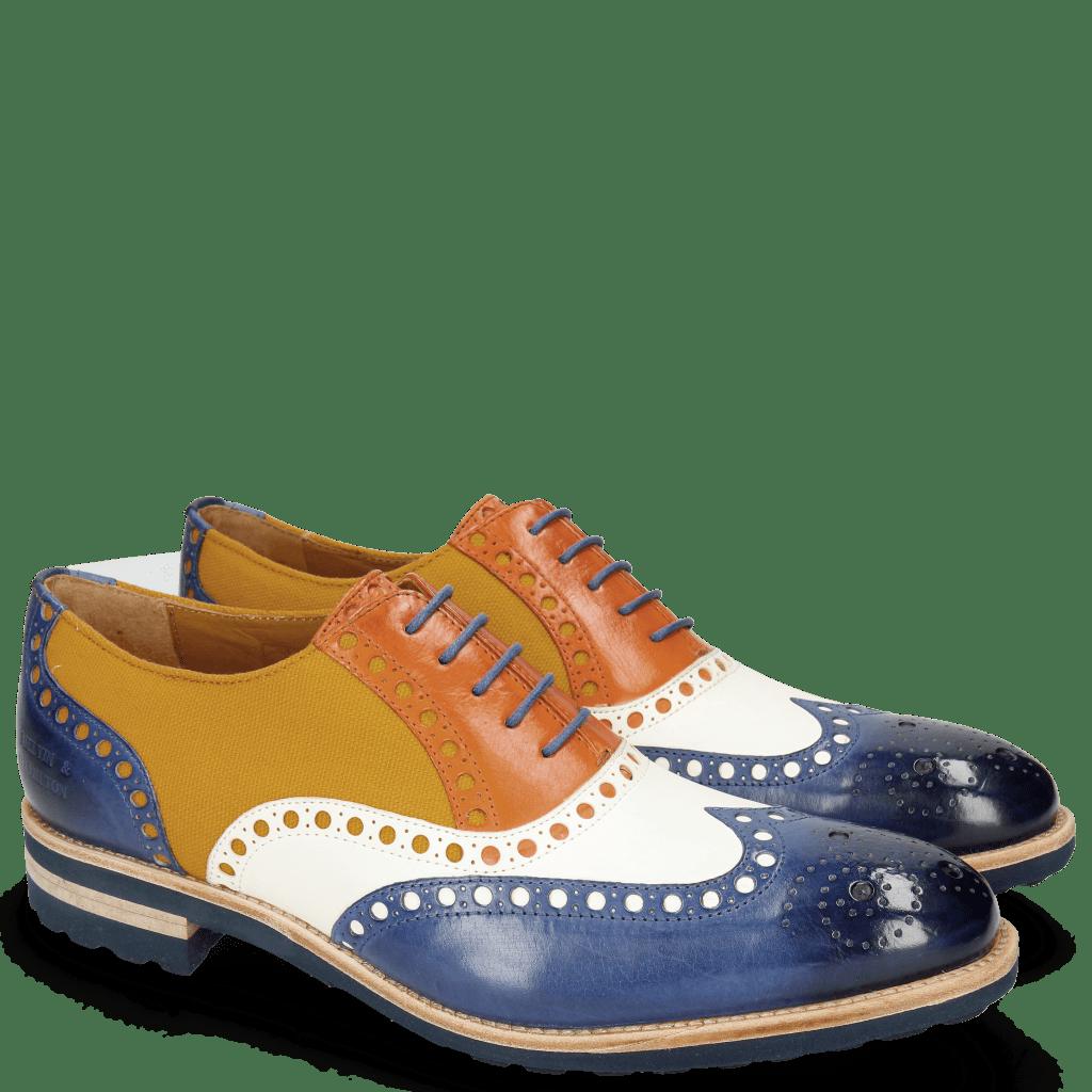Oxford Schuhe Tom 26 Midnight Vegas White Electric Orange