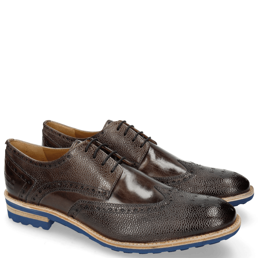 Derby Schuhe Eddy 5 Scotch Grain Stone