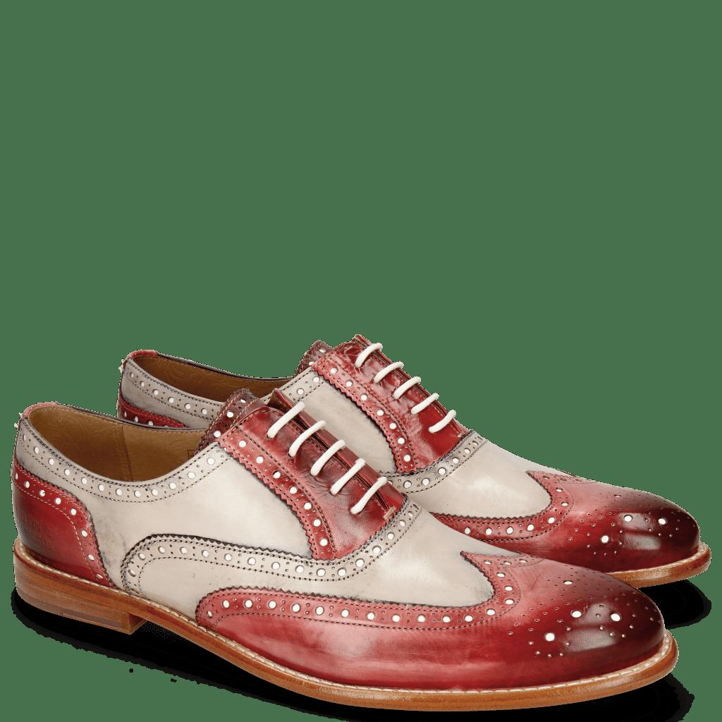 Oxford Schuhe Scott 12 Red Washed Black