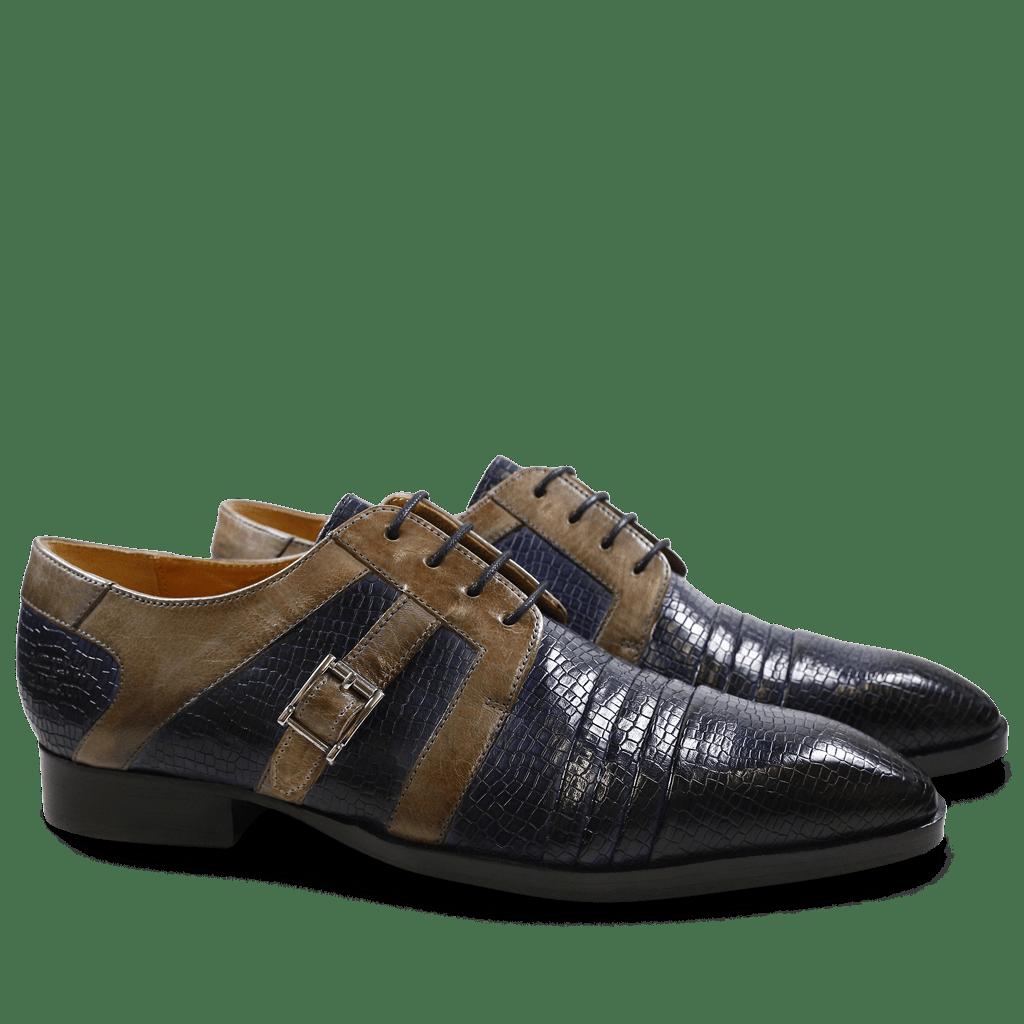 Derby Schuhe Ricky 2 Skink Navy Smoke LS
