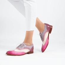 Derby Schuhe Amelie 10  Vegas Lilac White Light Purple Pale Lila