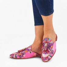 Pantoletten Scarlett 2 Korela Rose Tassel Rose Orange Accessory Gold LS Natural