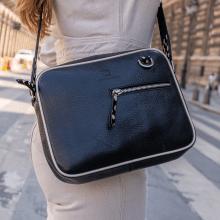 Handtaschen Quebec Prato Black Binding Flex Hairon