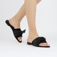 Pantoletten Hanna 65 Nappa Black Footbed Suede Black