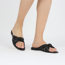 Pantoletten Hanna 63 Nappa Black Footbed
