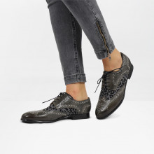 Derby Schuhe Sally 53 Grigio Leo Glitter